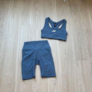 Blue Shorts Set